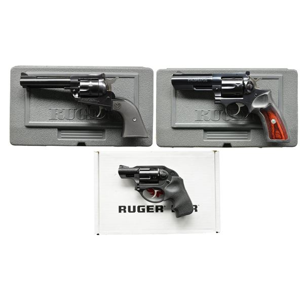 RUGER NM SINGLE SIX, GP100 & LCR REVOLVERS.