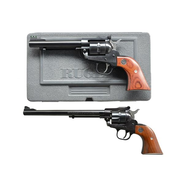 2 UNCOMMON RUGER SINGLE ACTION 22 REVOLVERS.