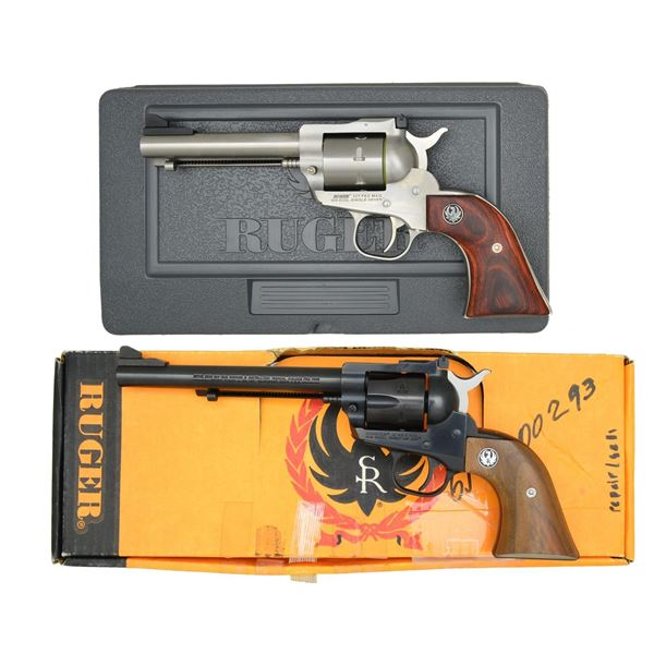 2 RUGER NM 32 CALIBER SINGLE ACTION REVOLVERS.