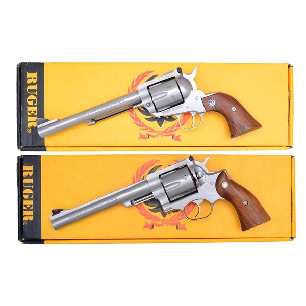 2 SCARCE RUGER STAINLESS REVOLVERS; KBN-45X & 44