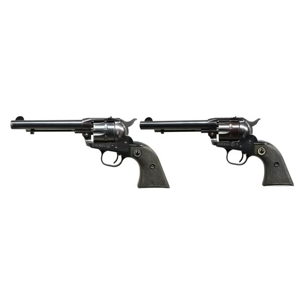 2 RUGER OLD MODEL SINGLE-SIX REVOLVERS.