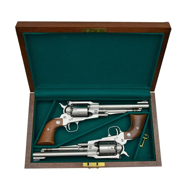 RUGER RCA CASED MATCHING NUMBERED SET OF STAINLESS