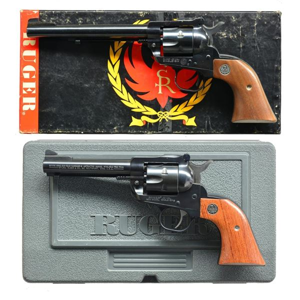 2 RUGER SINGLE-SIX CONVERTIBLE REVOLVERS; OM & NM.
