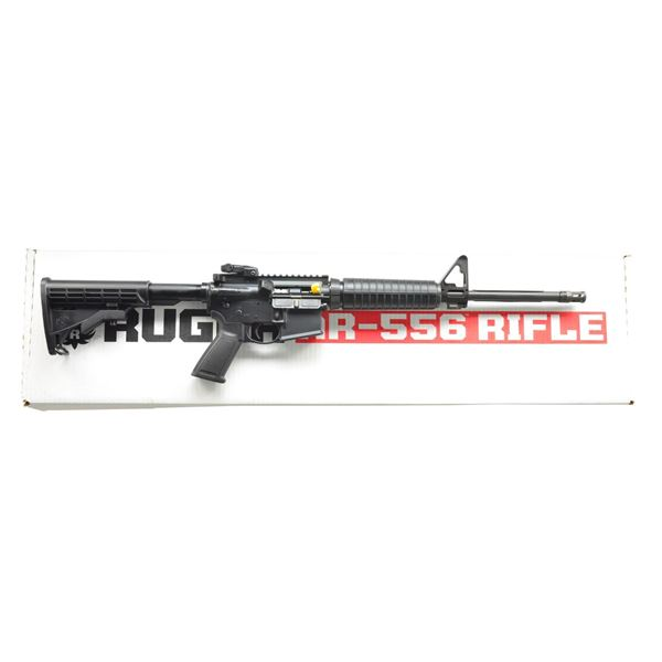 AS NEW RUGER AR 556 FLAT TOP RIFLE.