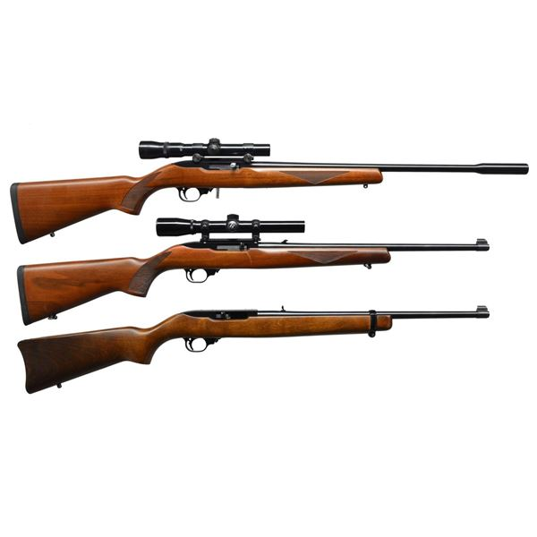 3 RUGER 10/22 SEMI AUTO RIFLES.