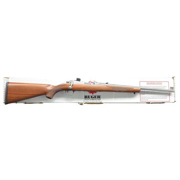 RUGER STAINLESS MODEL 77/357 BOLT ACTION RIFLE.