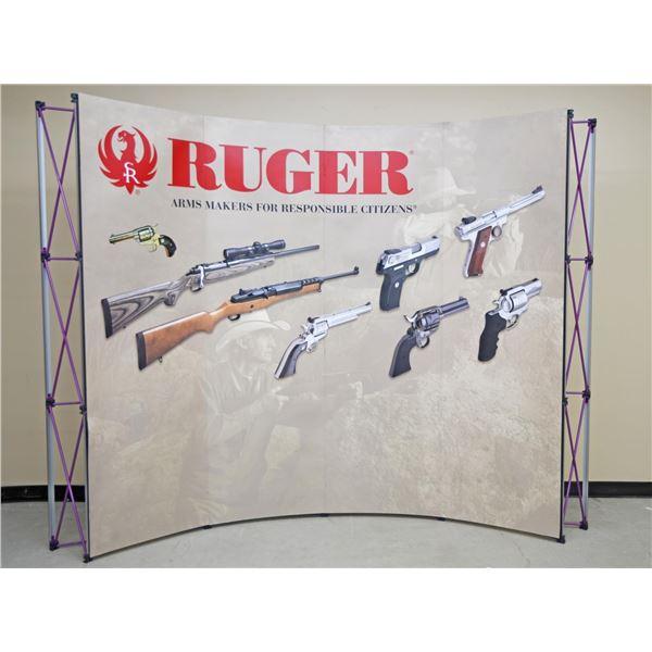 LARGE CASED RUGER GUN SHOW DISPLAY.