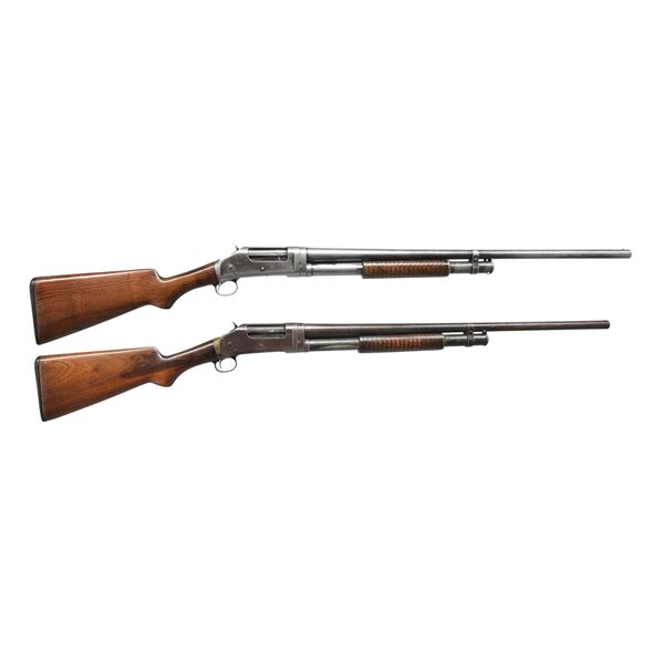 2 WINCHESTER 1897 PUMP SHOTGUNS.
