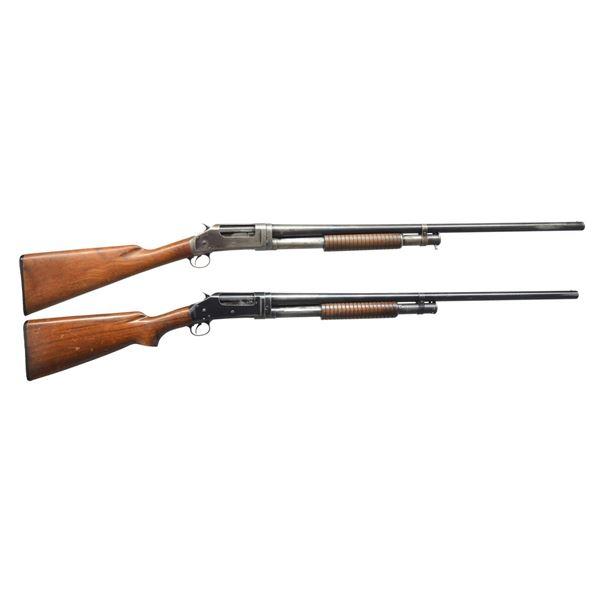 2 WINCHESTER MODEL 97 PUMP SHOTGUNS.