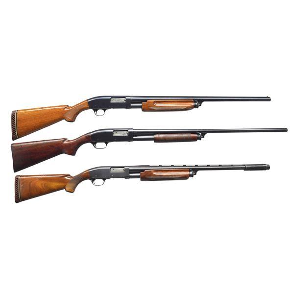 3 REMINGTON MODEL 31 PUMP SHOTGUNS.
