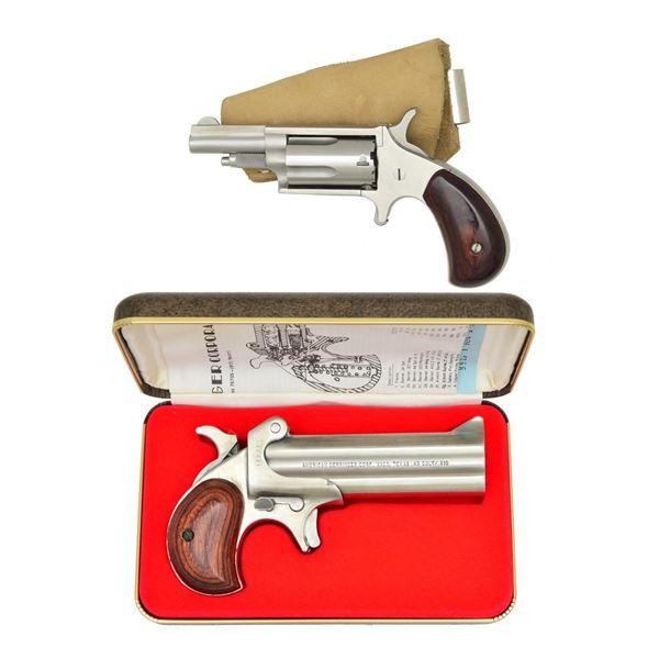 2 STAINLESS HANDGUNS; NAA 22 MAG. CONV. & AMERICAN
