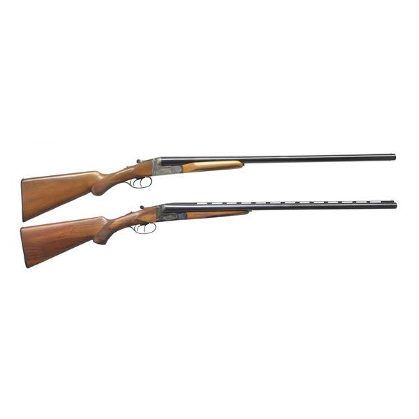 2 NOBLE SPANISH BOXLOCK SXS SHOTGUNS.