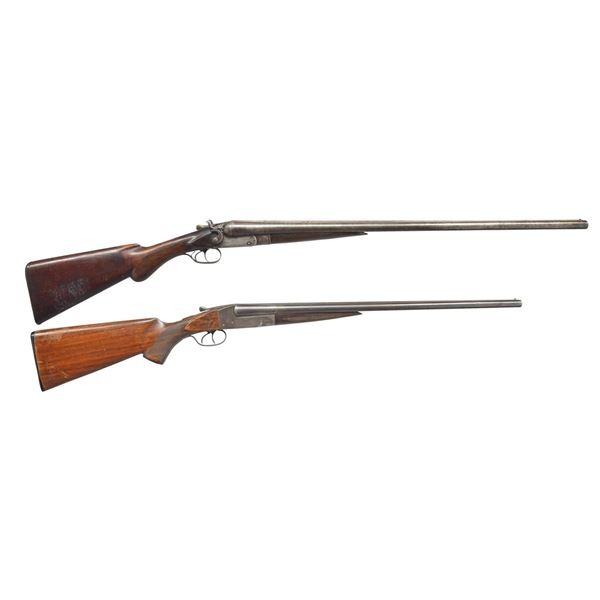 2 ITHACA SXS SHOTGUNS.