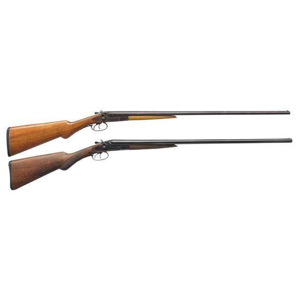 2 AMERICAN GUN CO. HAMMER SXS SHOTGUNS.