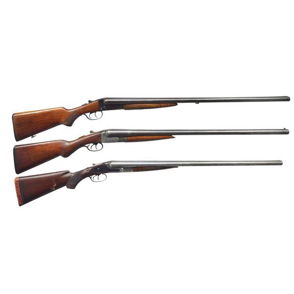 STEVENS, N. R. DAVIS & LEFEVER SXS SHOTGUNS.
