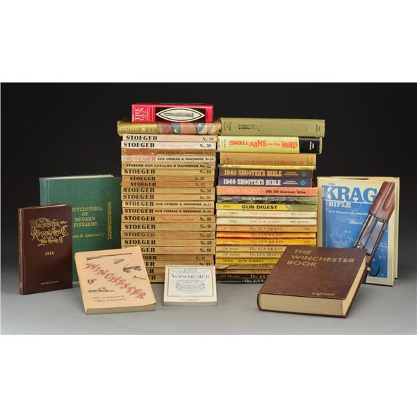 GROUPING OF GUN BOOKS, SHOOTERS BIBLES &