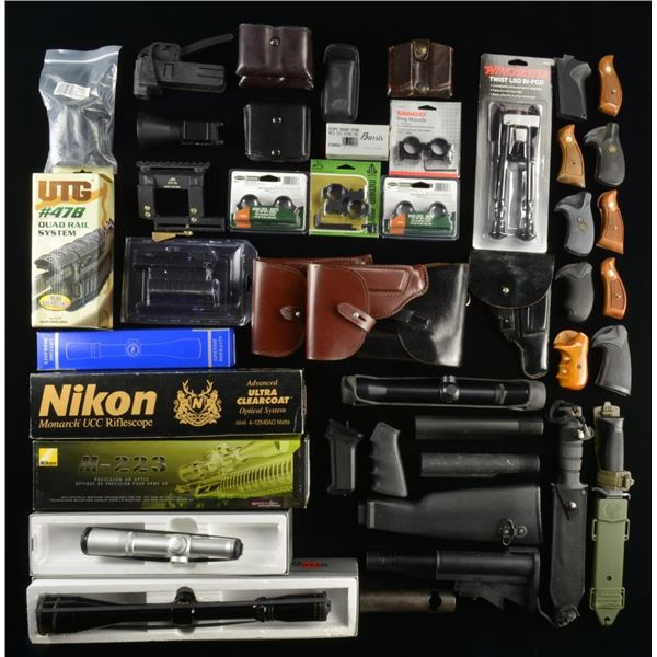 MISC. PARTS, BOXES, SCOPES, GRIPS, ETC.