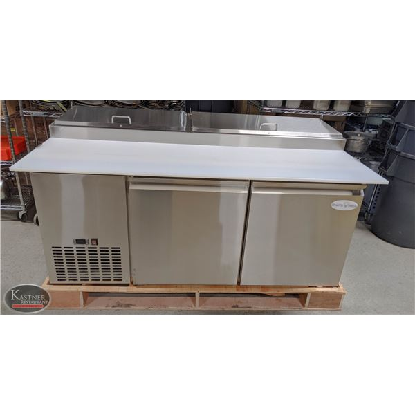 """NEW 67"""" S/S REFRIGERATED PIZZA PREP TABLE"""