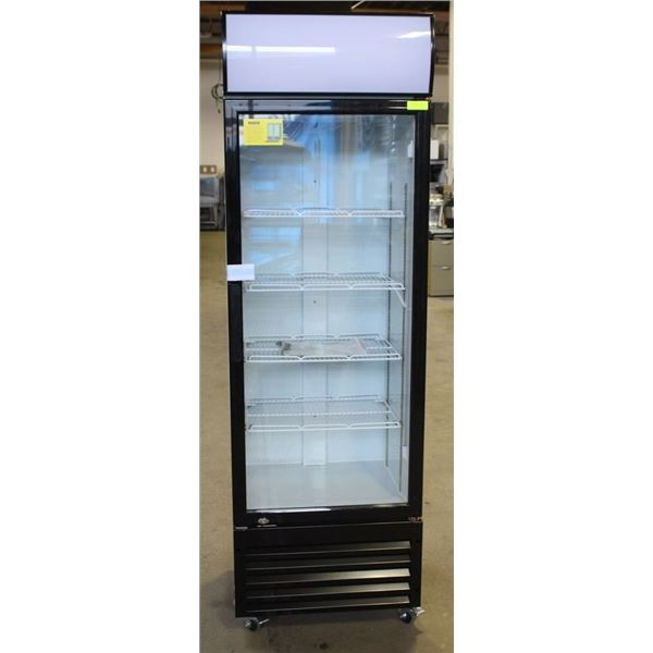 NEW HINGED SINGLE GLASS DOOR 460L UPRIGHT COOLER