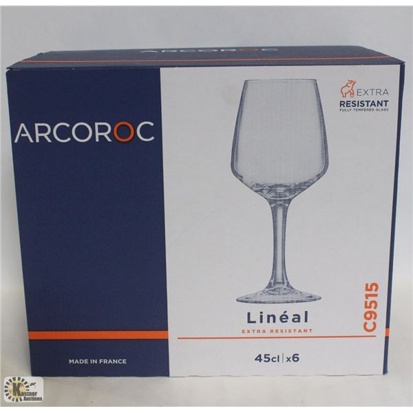 CASE OF ARCOROC 16.5 OZ LINEAL WINE GLASS