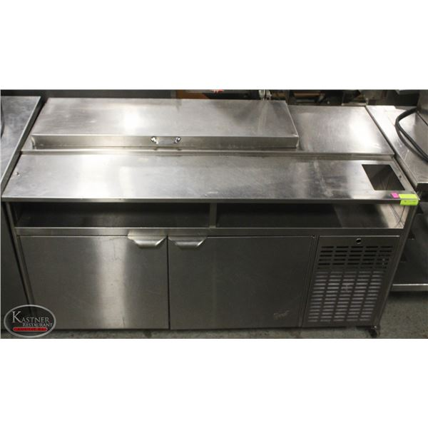 5' QUEST STAINLESS STEEL REFRIGERATION PREPSTATION