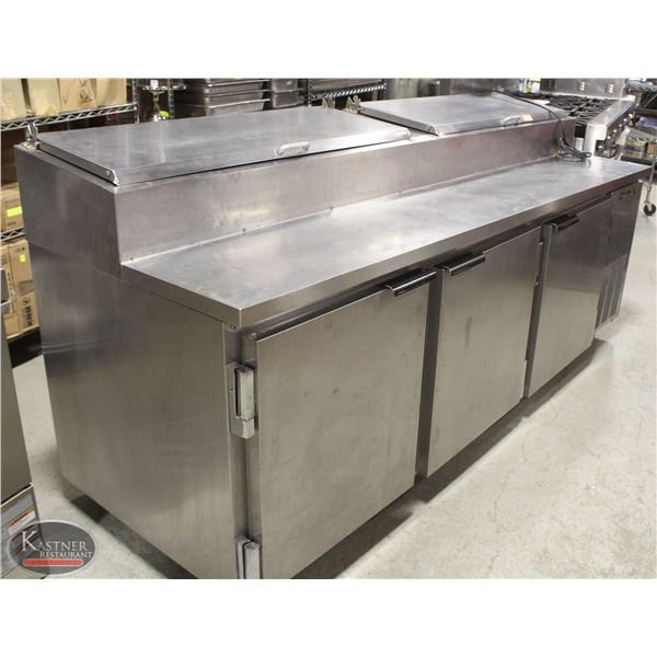 """93"""" BEVERAGE AIR REFRIGERATED PIZZA PREP STATION"""