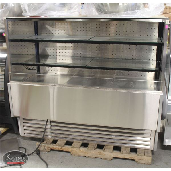 5' STAINLESS STEEL & GLASS REACH-IN DISPLAY COOLER