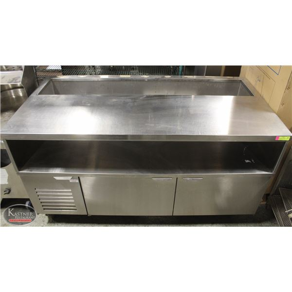 S/S REFRIGERATED PREP CABINET W/ OPEN TOP *NO TOP