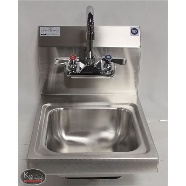 NEW STAINLESS STEEL WALL MOUNT HAND SINK