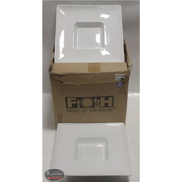 "NEW CASE OF 6  X 10.5"" SQUARE MOD BOWLS"