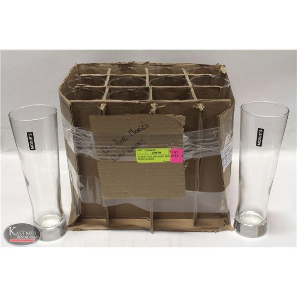 12 NEW 16 OZ. BRANDED PINNACLE BEER GLASSES