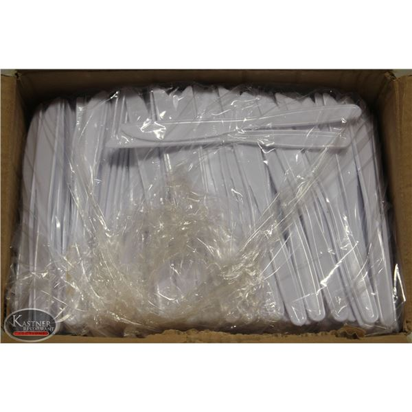 CASE OF 1000 CARRY-OUT PLASTIC KNIVES