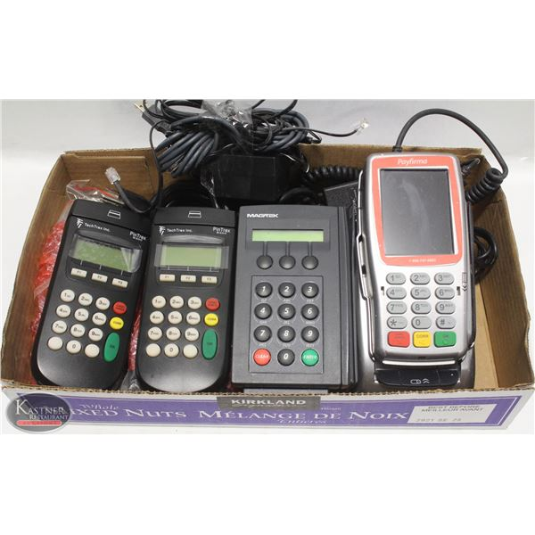 4 POS UNITS - VX670 VERIFONE AND 3 NEW TECHTREK