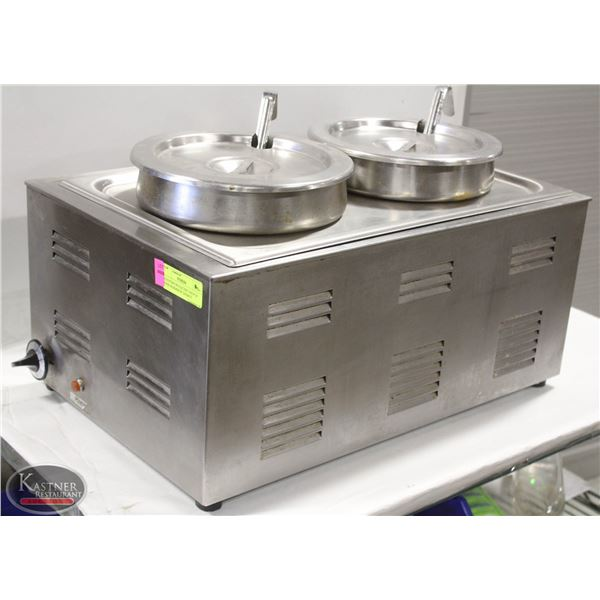 COUNTERTOP ELECTRIC SOUP OF FOOD WARMER W/ INSERTS