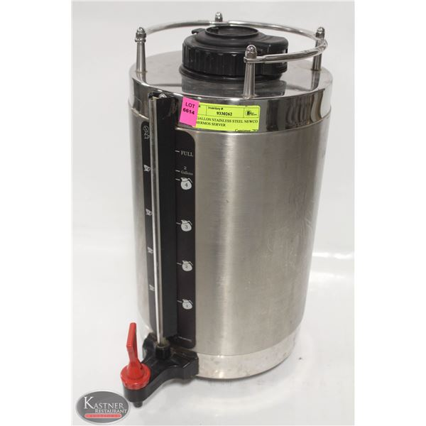 2 GALLON STAINLESS STEEL NEWCO THERMOS SERVER