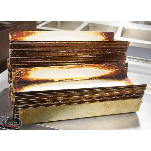 LOT OF 45 LOAF BUN PAN DIVIDER