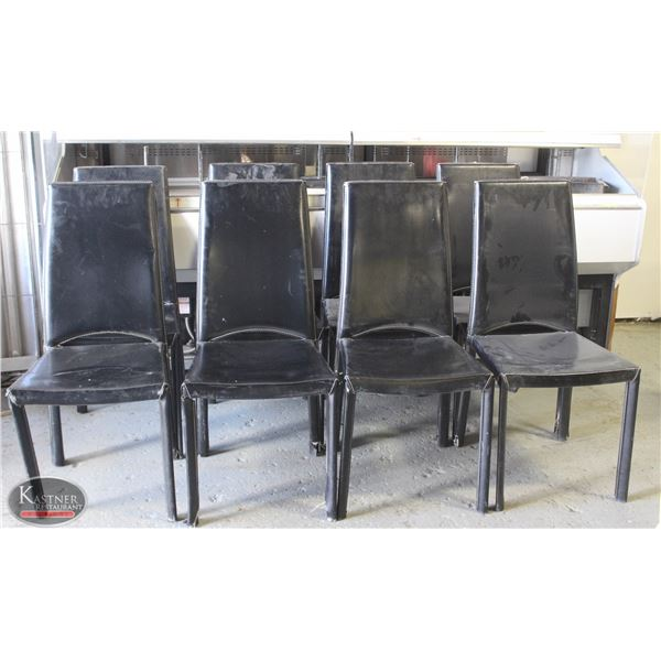 LOT OF 8 LEATHERETTE CHAIRS.