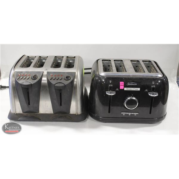 LOT OF TWO 4 SLICE TOASTERS