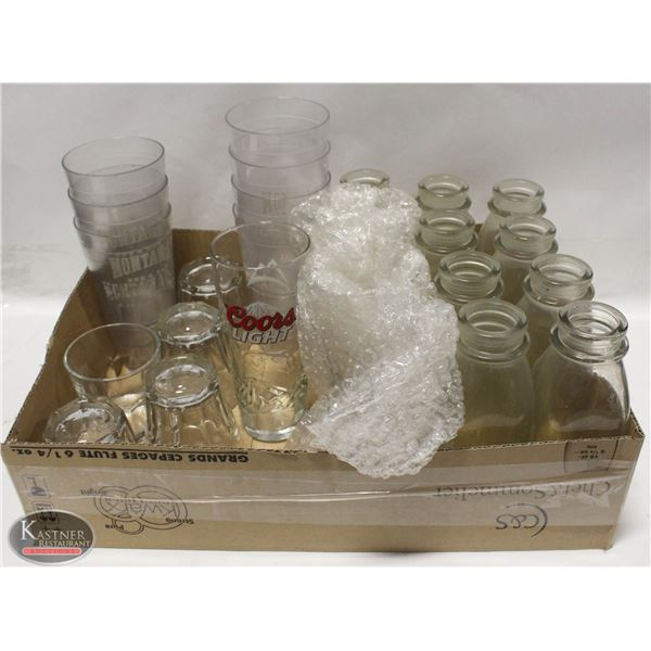LOT OF ASSORTED DRINKING GLASS