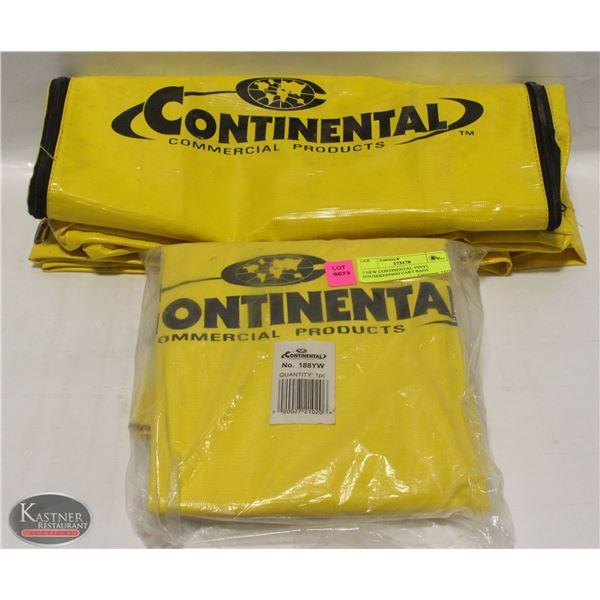 2 NEW CONTINENTAL VINYL HOUSEKEEPING CART BAGS