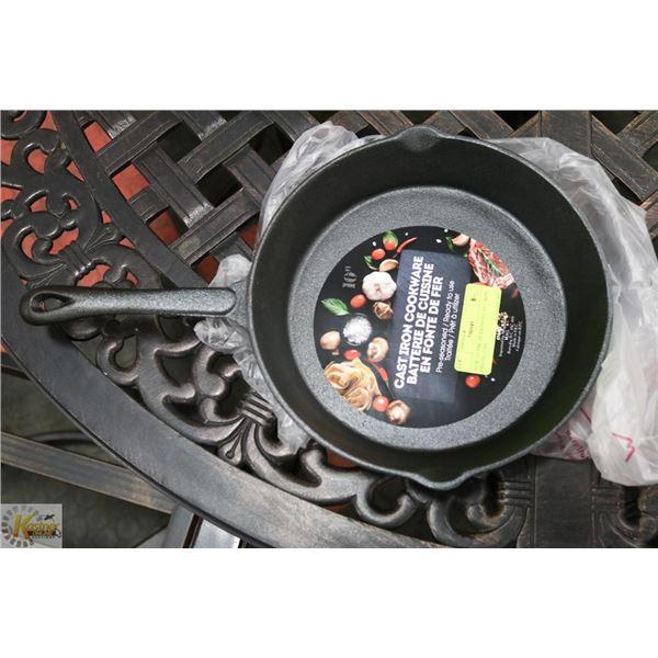 "NEW 10"" PRE-SEASONED CAST IRON FRYING PAN"