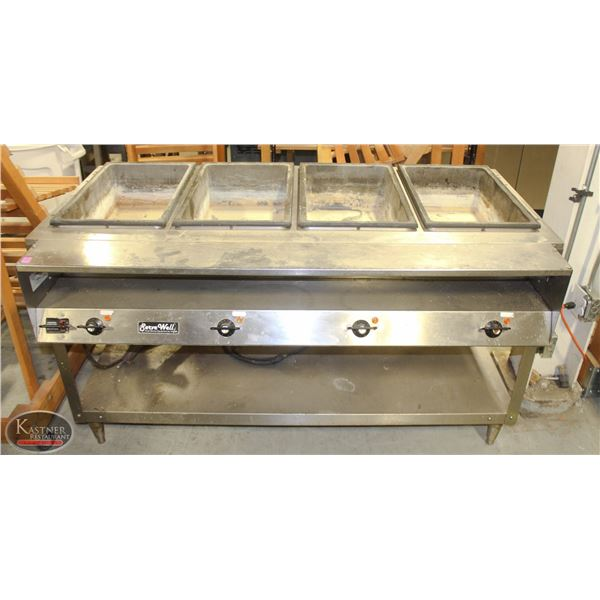 SERVE WELL STAINLESS STEEL 4-WELL STEAM TABLE