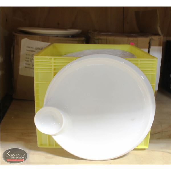 3 CASE OF CHIP AND DIP SERVING PLATES  APPR 48