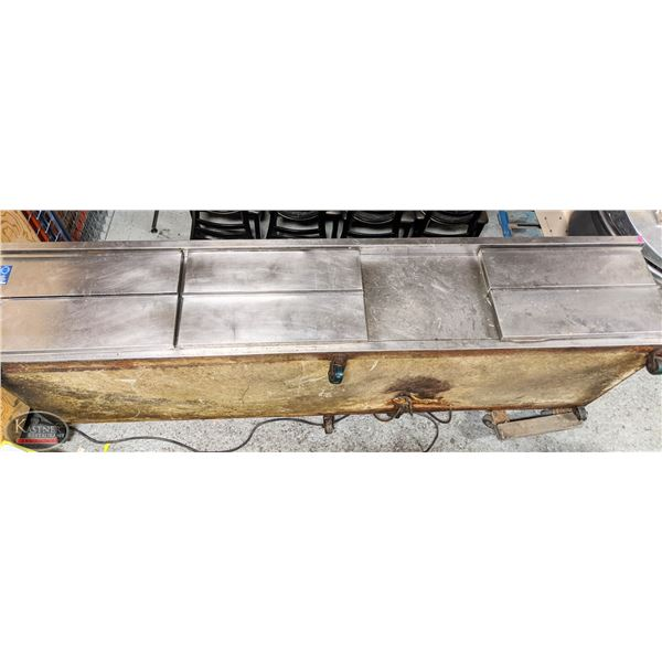 9 FOOT STAINLESS STEEL REFIGERATED CHEFS BASE