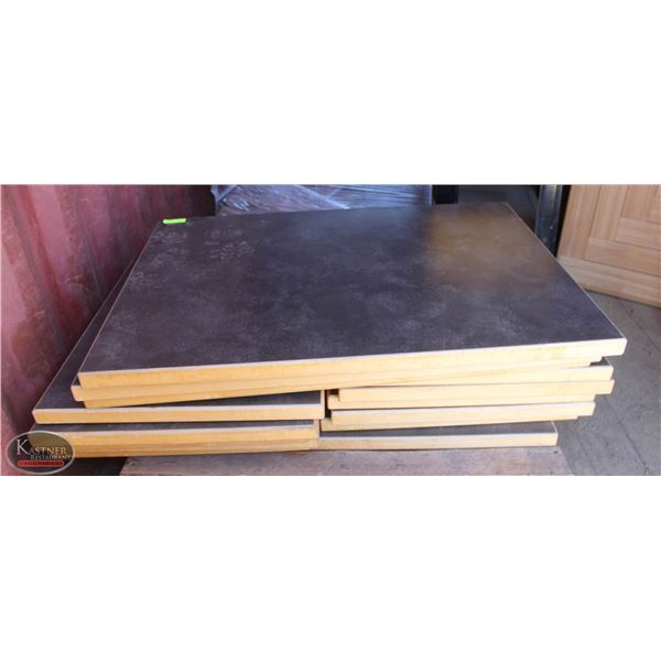 GROUP OF 16 DINING TABLE TOPS