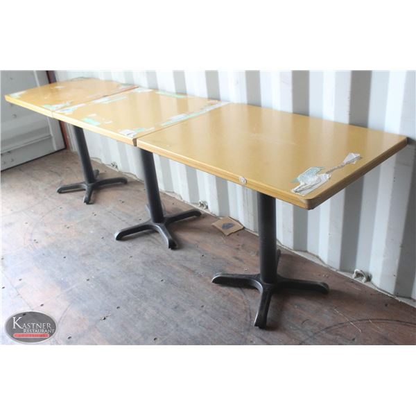 LARGE LOT OF APPROX. 23 TABLETOPS W/ METAL BASES