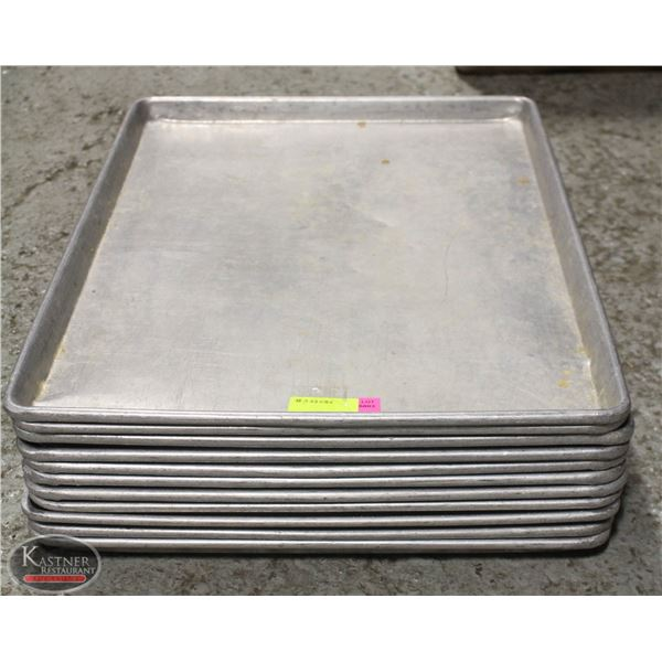 LOT OF 11 ALUMINIUM FULL SIZE BUN PANS