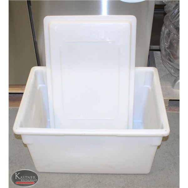 LARGE CAMBRO STACKABLE FOOD GRADE CONTAINER W/