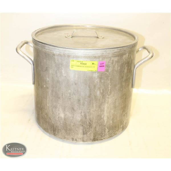 20QT COMMERCIAL STOCK POT W/ LID