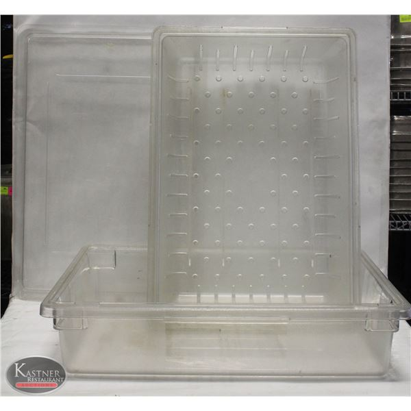 REVERSIBLE POLYCARBONATE FOOD BIN W/ LINER